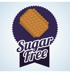 Sugar free design candy concept sweet icon vector