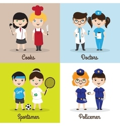cute cartoon kids in vector image