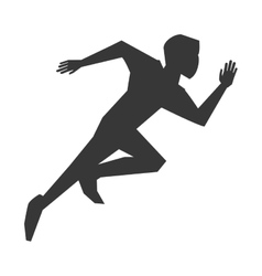 Person running silhouette vector