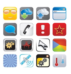 apps icon set four vector image