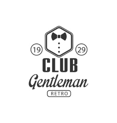 Club gentleman label design vector