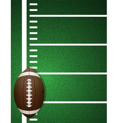 American Football Field and Ball vector image vector image