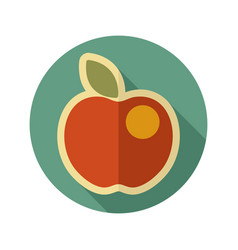 Apple flat icon fruit vector
