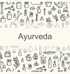 Ayurvedic supplies - poster vector