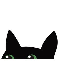 Black cat hiding vector