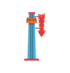 Cartoon of free fall or drop tower vector