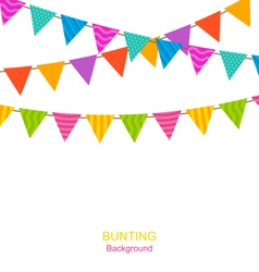 Colorful buntings flags garlands vector