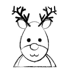 cute christmas reindeer character vector image