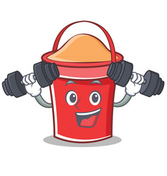 fitness bucket character cartoon style vector image vector image
