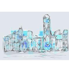 hong kong vector image