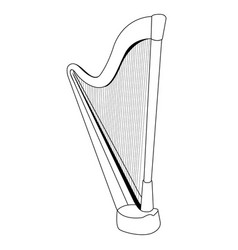 Isolated harp outline vector