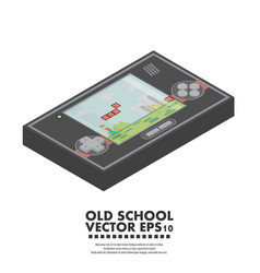 Isometric old gadget flat vector