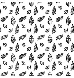 leaf brush seamless pattern vector image vector image