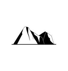 Mountain peaks silhouette icon in flat style vector