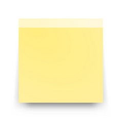 post blank sticky paper sheet vector image