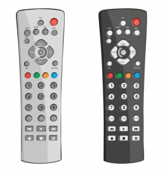 remote controls vector image