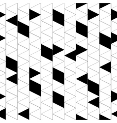 Rhombus and triangle seamless pattern vector image vector image