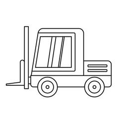 Stacker loader icon outline vector