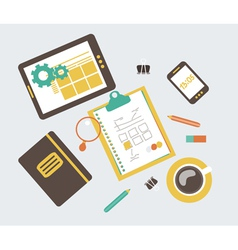 web design development workflow vector image