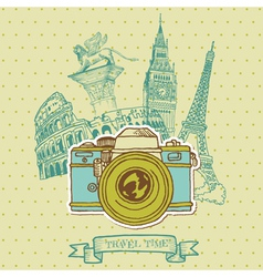 Lovely card - vintage camera vector