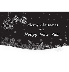 Black merry Christmas and happy new year vector image