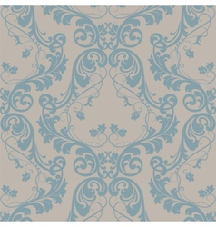 Baroque floral damask ornament pattern vector