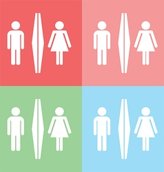 1408 Toilet icon vector image