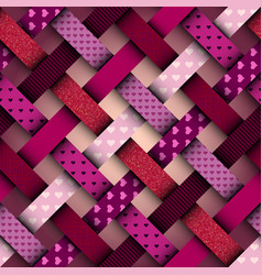 interweaving red pattern vector image