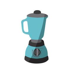 Blue color silhouette of kitchen blender vector
