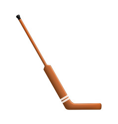 Hockey stick for goalie vector
