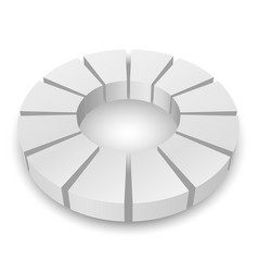 White circular diagram isolated on white vector
