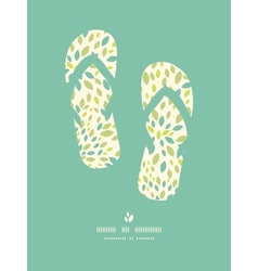 Leaf texture flip flops decor pattern background vector
