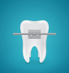 Tooth with staples vector