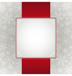 Grey christmas background with snowflakes vector