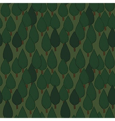 Summer tree seamless pattern vector