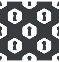 Black hexagon keyhole pattern vector