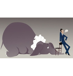 Elephant in the room vector