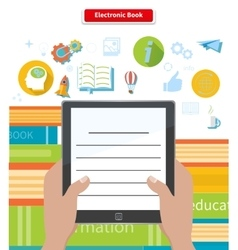 Electronic book concept reading ebook vector