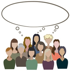 Group of women have a common think vector image