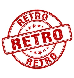 retro red grunge round vintage rubber stamp vector image