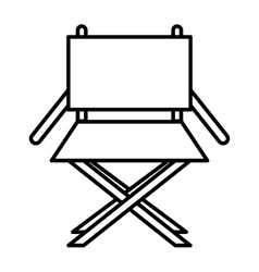 Director chair isolated icon design vector