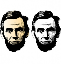 Abraham Lincoln vector image
