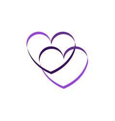 abstract heart logo vector image