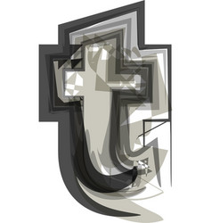 abstract letter t vector image vector image