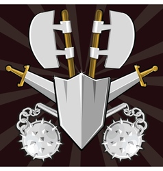 Ancient weapon collection vector