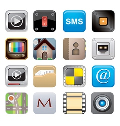 apps icon set one vector image