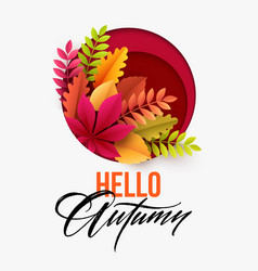 autumn background with fall leaves vector image vector image