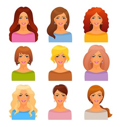 Beautiful and young girls vector