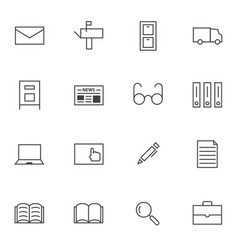 Big data documents icon sets vector