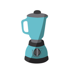 Blue color silhouette of kitchen blender vector
